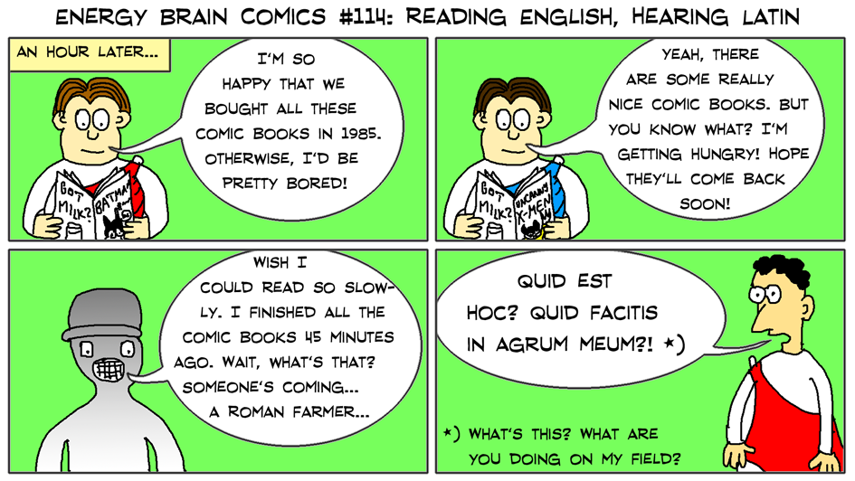 Reading English, Hearing Latin