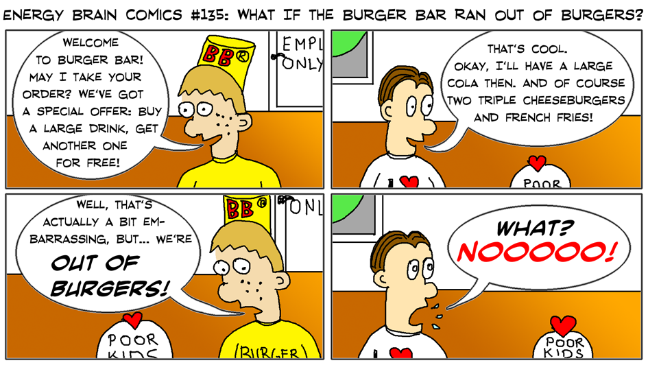 What If The Burger Bar Ran Out Of Burgers?