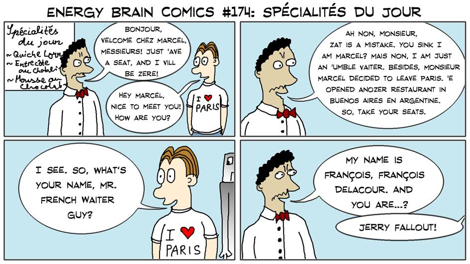 Energy Brain Comics 174 Spécialités Du Jour