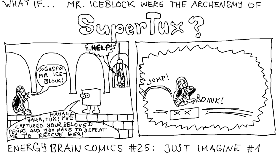 What if Mr. Iceblock were the archenemy of SuperTux