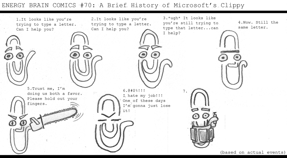 A Brief History of Microsoft's Clippy (Guest Strip)