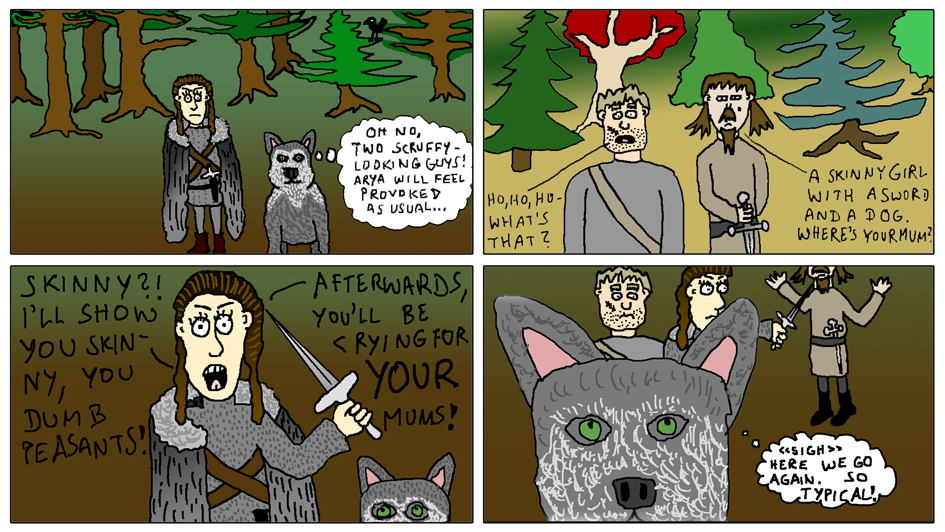 Arya and Nymeria (What the Direwolves are Thinking!)