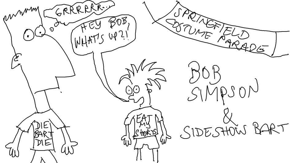 Bob Simpson and Sideshow Bart
